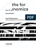 Cover Page Renshaw's Maths for Economists