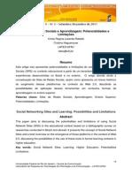 Sites de Redes Sociais e Aprendizagem