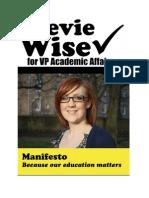 Stevie Wise Manifesto