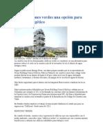 Construcciones Verdes Una Opción Para Ahorro Energético