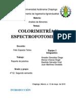 Pract. 7 Espectrofotometria y Colorimetria