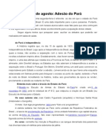 15 de Agosto_adesão Do Pará