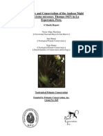 Basic Ecology and Conservation of the Andean Night Monkey