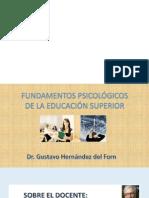 Fundamentos Psicológicos de la educación superior