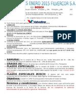 Promociones Filvercor Enero 2015