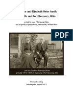 John Heiss and Elizabeth Potteiger at Leesville and Fort Recovery, Ohio