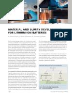 50 Material Slurry Development