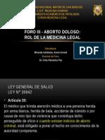 Aborto Doloso Rol de la Medicina Legal