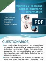 Técnicas, Herramientas y Controles de La Auditoría Informática