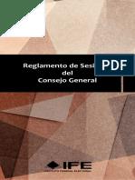 Reglamento Sesiones del Consejo General