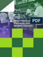 Resumo Técnico - Censo de Educacão Básica, 2012.