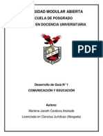Educación y Comunicación.