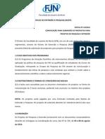 Edital Projeto Docente Nuep20142