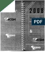 ACGIH - Livro LTVs Produtos Químicos