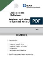Asociaciones Religiosas 2014 Presentación