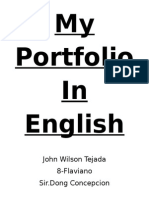 My Portfolio in English