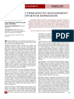 Clinical and Therapeutic Management Postpartum Depression
