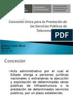 Concesion Unica Para La Prestacion de Los Servicios Publicos de Telecomunicaciones