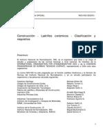 NCh 0169 ladrillos clasificacion y requisitos