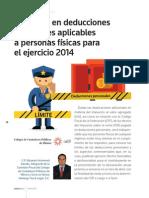 22 Limitante en Deducciones Personales 2014