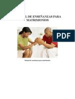 Manual de Enseñanzas Para Matrimonios