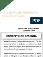 DEFINIÇÃO - RESENHA CRÍTICA
