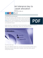 Age and Risk Tolerance Key to Mastering Asset Allocation