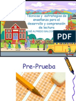 Técnicas y  estrategias de enseñanza para el desarrollo y comprensión de lectura.ppt