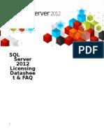 SQL Server 2012 Licensing Datasheet and FAQ Mar2012