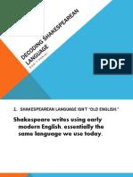 Decoding Shakespearean Language