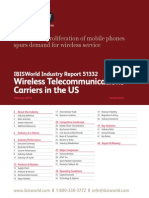 IBIS-51332 Wireless Telecommunications Carriers in the US Industry Report