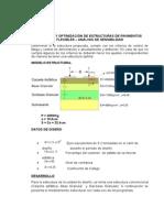 Chequeo y Optimización de Estructuras de Pavimentos Flexibles