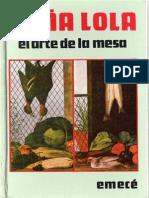 Pietranera Lola P de - Doña Lola El Arte de La Mesa