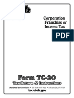 Utah Form TC-20 Tax Return and Instructions