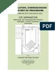 Install-comm-startup CPI Separator Matindok