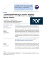 Tromboelastografia, Nuevos Conceptos en La Fisiologia de La Hemostasia - Rev Colombiana Anestesiologia