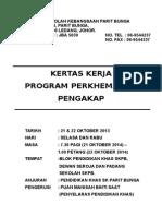 KERTAS KERJA Program Perkhemahan Pengakap 2013