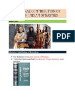 CULTURAL CONTRIBUTION OF SOUTH INDIAN+DYNASTIES