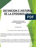 Historia de La Epidemiologia - Franklin Murcia Reyes - Esp Gerencia de La Salud Ocupacional - Cohorte # 44