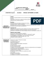 Planeación Bimestral Español