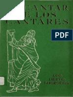 ALONSO SCHOKEL, L. - El Cantar de Los Cantares - Ediciones Cristiandad 1969