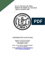 Estt of New Med Coll Regulations 1999