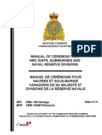Manual of Ceremony for HMC Ships