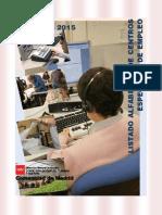 Listado Centro Especial Empleo Discapacidad CAM 2015