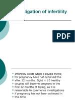 Investigation of Infertility