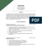 Jobswire.com Resume of RaulPuente