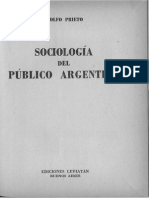 Adolfo Prieto - Sociologia Del Publico Argentino - Parte 1