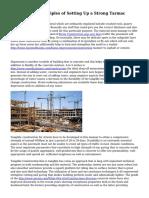 Construction Principles of Setting Up a Strong Tarmac