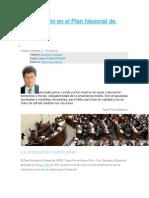 La Educación en El Plan Nacional de Desarrollo