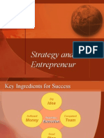 Strategy and the Entrepreneur